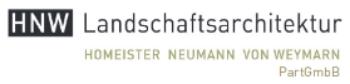 HNW Landschaftsarchitektur Homeister Neumann von Weymarn PartGmbB